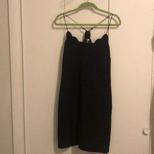 J.Crew Scalloped Black Work Dress